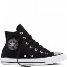 Converse černé tenisky se stříbrnou špičkou CTAS HI Black/Silver