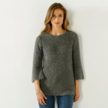 Blancheporte Jemný pulovr khaki 54