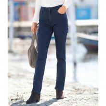 Blancheporte Rovné džíny s kapsami modrá 52