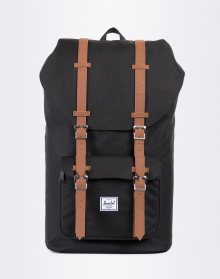 Herschel Supply Little America Black/Tan Synthetic Leather 25l