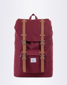 Herschel Supply Little America Mid-Volume Windsor Wine/Tan Synthetic Leather