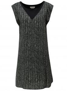 Šedo-černé volné vzorované šaty Skunkfunk Geretz
