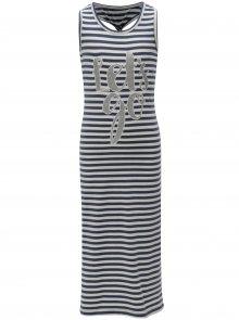 Tmavě modré holčičí pruhované šaty name it Pihla