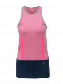 Modro-růžový sportovní top Kari Traa Anita