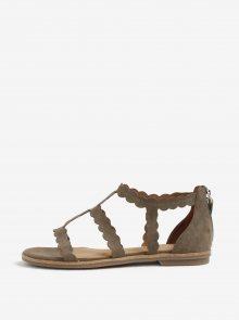 Khaki semišové sandály s.Oliver