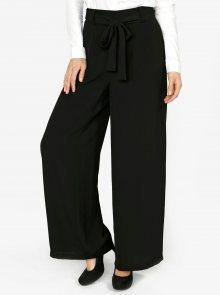 Černé volné kalhoty s vysokým pasem VERO MODA Mita