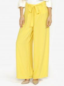 Žluté volné kalhoty s vysokým pasem VERO MODA Mita