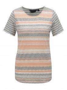 Šedo-růžové pruhované tričko Dorothy Perkins