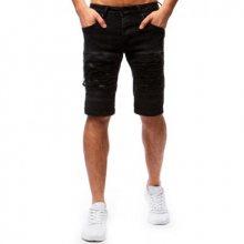 Pánské džínové šortky černé
