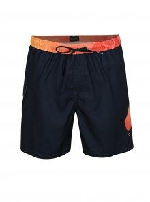 Oranžovo-modré pánské plavky s potiskem Quiksilver