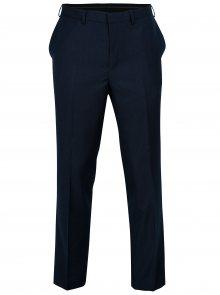 Tmavě modré tailored fit kalhoty Burton Menswear London
