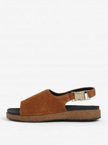 Hnědé dámské semišové sandály Woden Stella