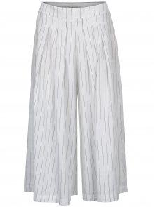 Bílé pruhované culottes Selected Femme Raika