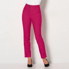Blancheporte Bootcut kalhoty s vysokým pasem, malá postava třešňová 36