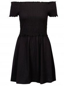Černé šaty s odhalenými rameny ONLY Naomi