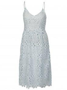 Světle modré krajkové šaty na ramínka VILA Dalton