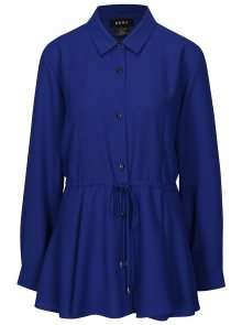 Modrá halenka se stahováním v pase DKNY