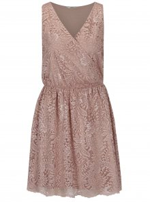 Starorůžové krajkové šaty ONLY Sierra