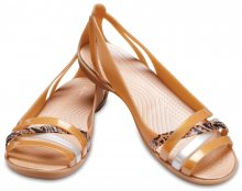 Crocs karamelové sandály Isabella Grph Huarache 2 Flat Dark Gold