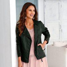 Blancheporte Koženková bunda khaki 38