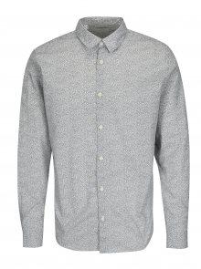 Černo-bílá vzorovaná slim fit košile Selected Homme One Mini