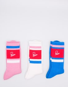 by Parra Crew 3 Pack White Pink Blue