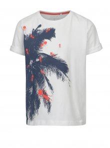 Bílé klučičí tričko s exotickým potiskem name it Vux