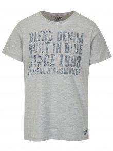 Šedé regular fit tričko s potiskem Blend