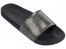 Zaxy černé pantofle Snap Glitter Slide Fem Glitter Black