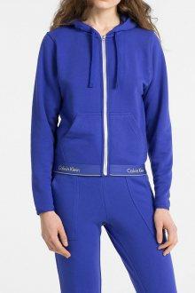 Calvin Klein modrá mikina Top Hoodie Full Zip