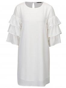 Bílé šaty s volány na rukávech ONLY Caroline