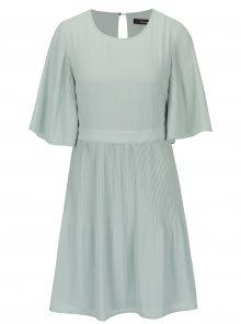 Světle zelené šaty s 3/4 rukávem VERO MODA Amanda