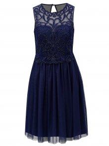 Tmavě modré šaty s tylovou sukní Little Mistress