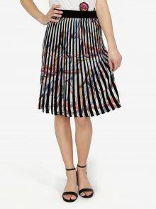 Krémovo-černá vzorovaná plisovaná sukně Desigual Lady Liberty