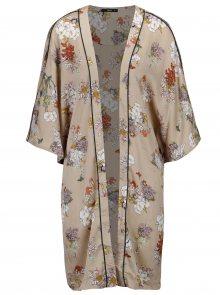 Béžové květované kimono ONLY Eva