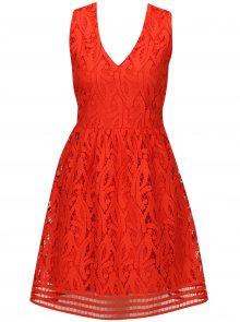 Červené krajkové šaty VERO MODA New Exclusive