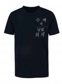 Tmavě modré tričko s potiskem ONLY & SONS Steven