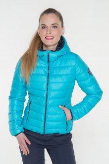 Sam 73 Dámská bunda s kapucí a kontrastními zipy Sam 73 modrá neon XL
