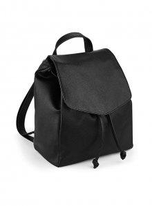 Koženkový mini batoh - černá univerzal