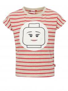 Růžovo-šedé holčičí pruhované tričko Lego Wear Tanya