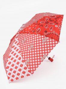 Červený deštník s bílými puntíky Desigual Dolly