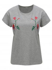 Šedé oversize tričko s potiskem Jacqueline de Yong Nixon