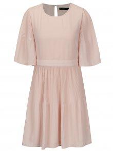 Světle růžové šaty s 3/4 rukávem VERO MODA Amanda