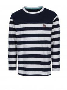 Sleva - Bílo-modré klučičí pru Bílo-modré klučičí pruhované tričko s ... 6f3dd5084f