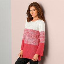 Blancheporte Postupně stínovaný pulovr s dlouhými rukávy režná/korálová 38/40
