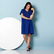 Blancheporte Krátké šaty se šněrováním ve výstřihu modrá 38