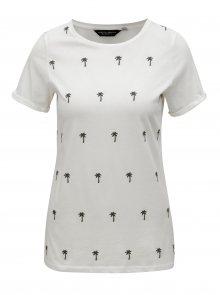 Krémové tričko s výšivkou palem Dorothy Perkins