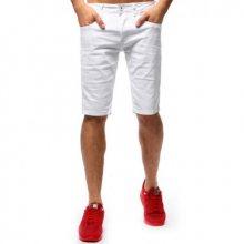 Pánské džínové šortky bílé