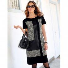 Blancheporte Šaty s patchwork efektem černá/šedá 38