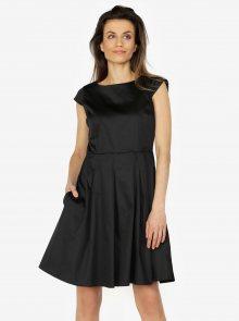 Černe šaty s áčkovou sukní ZOOT